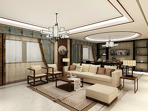 茂业四居室 270㎡ 新中式风格