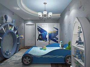 现代风格儿童房装修效果图