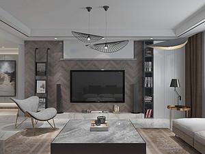 香颂三居室 138㎡ 后现代风格