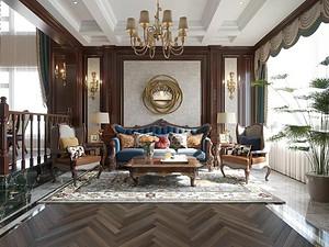 萨尔斯堡别墅装修 360㎡美式复古奢华风