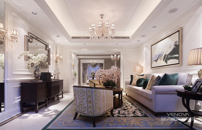 欧式风格,复古和典雅让这种温馨风格的感觉清新而舒适,淡淡的嫩绿色将家居风格点缀成如同初春一般的美图。朦胧的淡粉色装饰墙将田园风格装修进行到底,搭配上素白的椅子清新之感油然而生,随性而自然