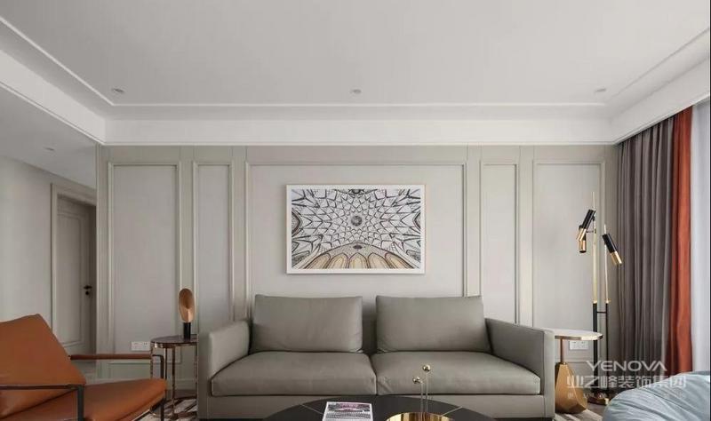 黄色的皮质沙发 为空间增加一丝亮点 硬朗不失精致感