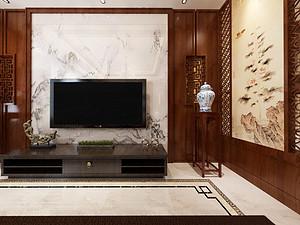 新中式风格客厅西甲买球盘口效果图