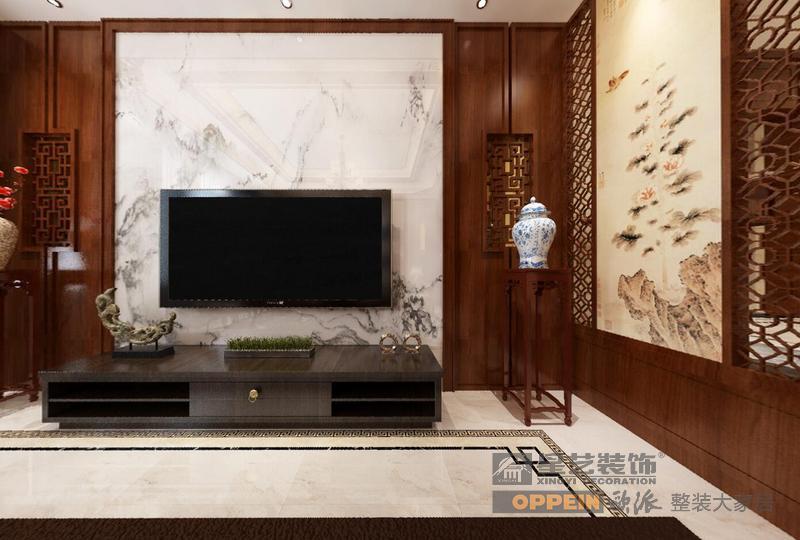 山和院子-新中式风格-1楼客厅