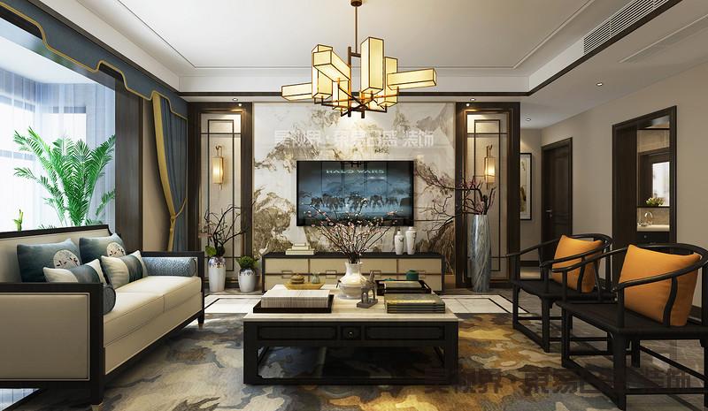 新中式空间中的优雅色调,往往不是大面积地渲染而成,而是通过写意的点缀色姿态牵起东方情怀,然后与天然材质的家具和别致的器物、摆件相协和,以创造难以言表的意境之美。