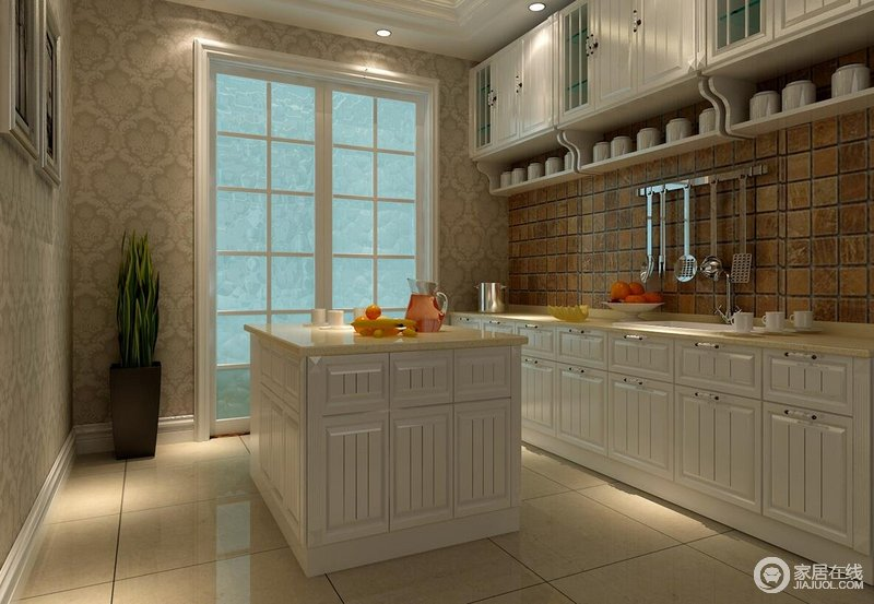 厨房是诞生美味的地方,做饭的心情要明亮快活才能做出好吃的菜呀,岛台让操作更为方便。