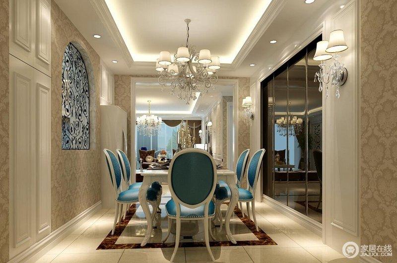 风格相对简洁,以实木材料制作的餐桌及椅凳朴实而自然,细节处理十分考究,如流畅的桌边线条,桌面及椅子的纹理,都凸显着家居生活的品质感。