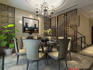 新中式风格餐厅贝博官网登录效果图