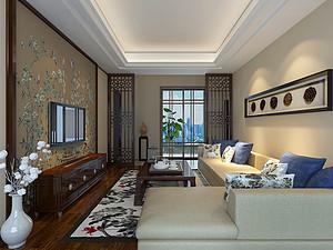 新中式风格客厅贝博官网登录效果图