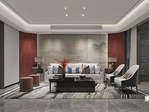 風尚米蘭,疊加別墅,460平,新中式風格