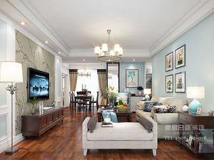 临沂装修两室一厅万源新城装修效果图_简美风格