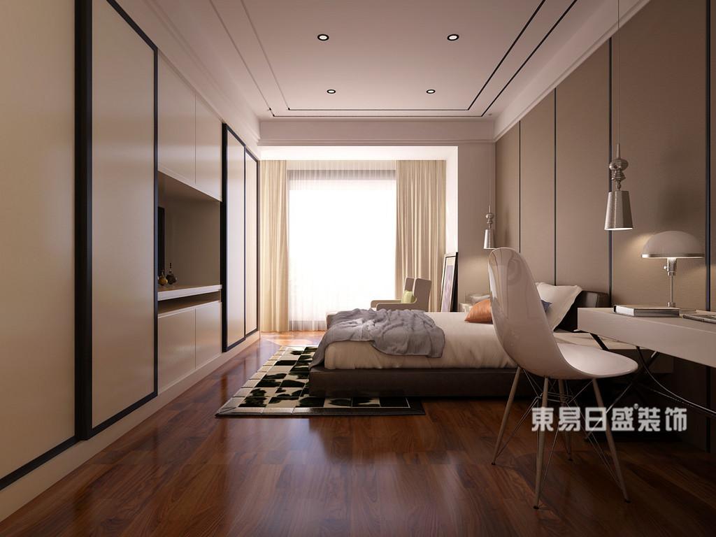 桂林丽景5号公馆四居室160㎡现代简约风格:主卧室装修设计效果图