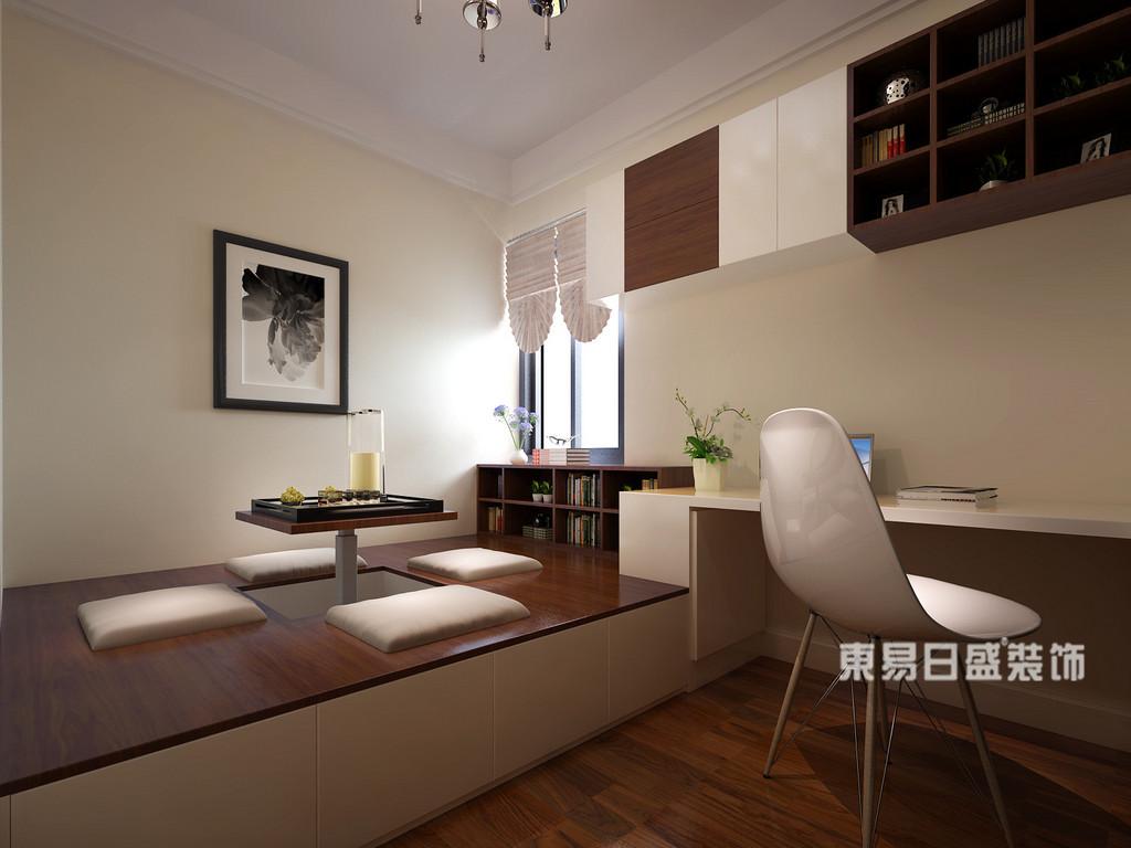 桂林丽景5号公馆四居室160㎡现代简约风格:书房装修设计效果图