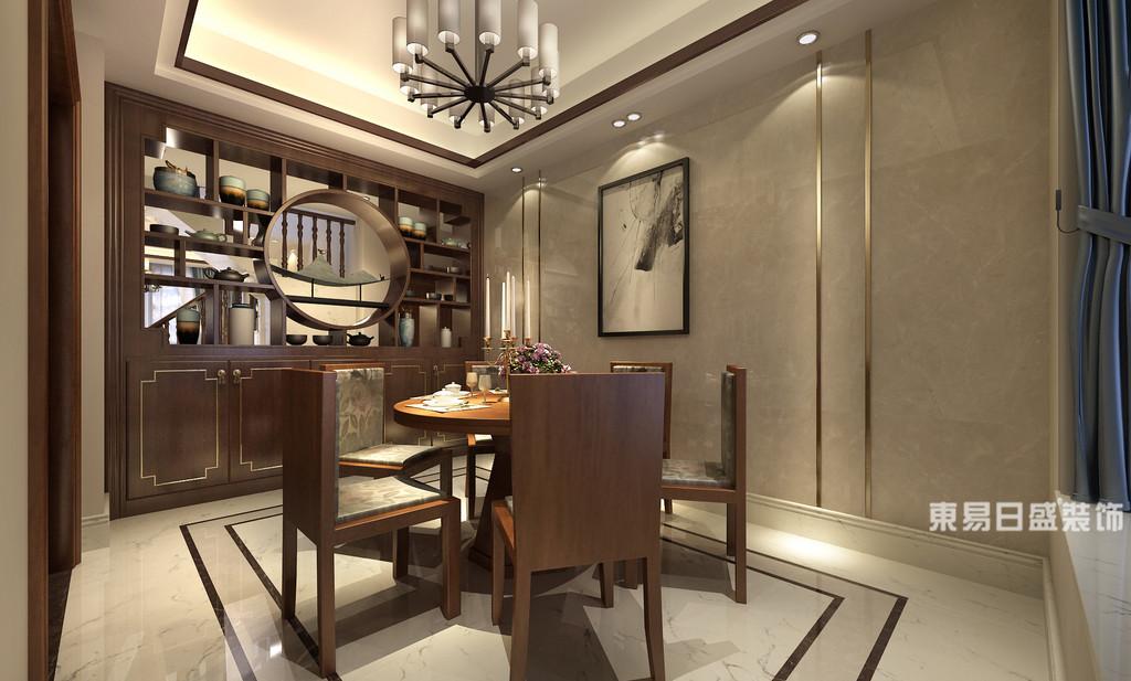 桂林富杰•水岸家园复式楼280㎡新中式风格:餐厅装修设计效果图