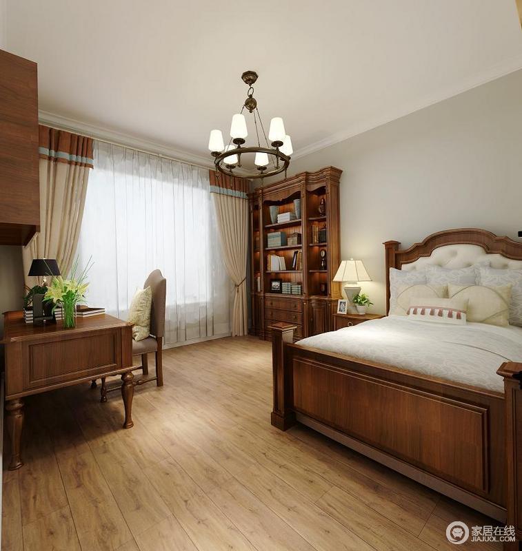 美式风格卧室,简约温馨.