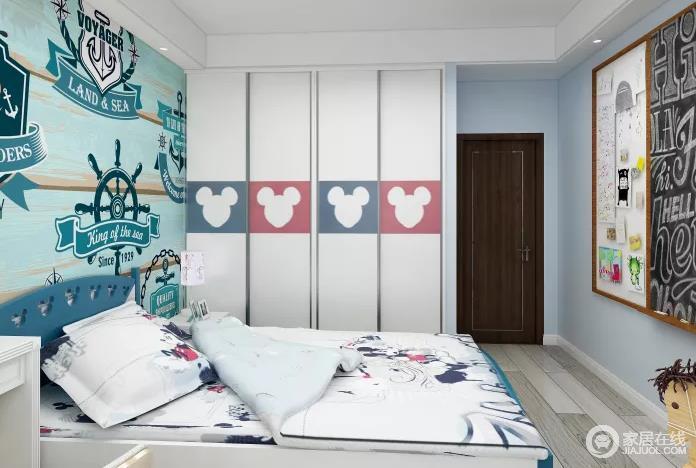简约风格时尚简约,儿童房的设计比较温馨,点线面的综合考虑与色调搭配恰到好处地表达童趣和活力。