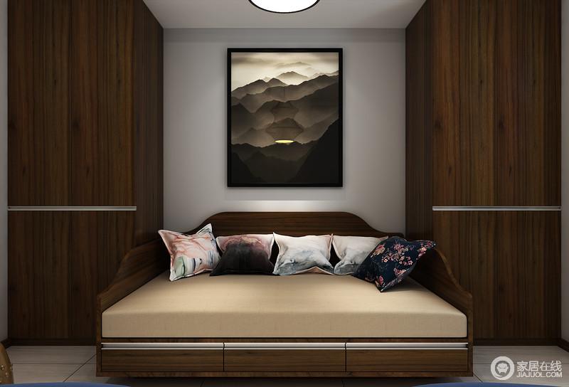 既是榻也是床的休息区既满足主人使用更是客人留宿的舒适之地。