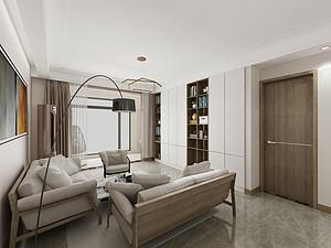汀香郡灏园-147平米三室两厅装修-现代简约风格装修案例赏析