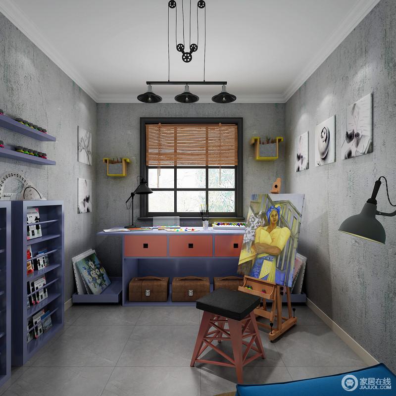 满足大面积操作和绘画的平台以及极致的工具收纳,不占地方的书架和独立的休息区,构成了专属于您的匠人之屋。