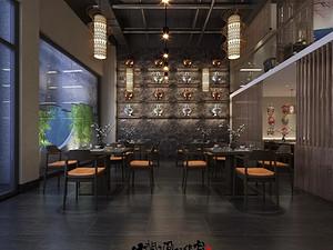 新中式风格餐厅西甲买球盘口效果图