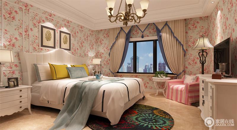 少女家具_充满少女心和浪漫田园风的卧室,在浅蓝底色中姹紫嫣红、娇媚 ...