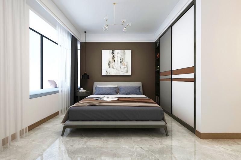 临沂装修金升华府-三室两厅两卫装修-现代轻奢风格主卧室装修效果图