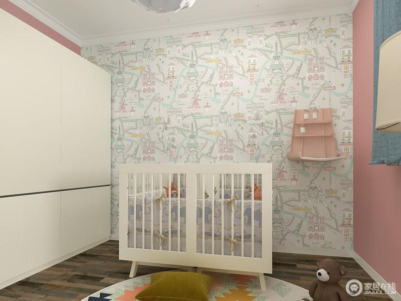 空间布局整洁有序,与普通的婴儿床不同的是双胞胎婴儿床拥有更大的空间,保证了双胞胎小宝宝能在安全舒适的婴儿床中幸福的熟睡。