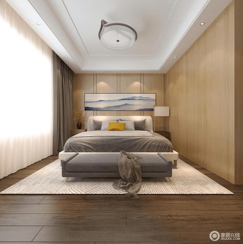 一个静谧温馨的地方更利于睡眠,需要打造这样的一个良好的空间不单单是依靠色彩和软装的搭配,也要充分发挥空间感,将自然光和辅助光源与灰色系的布艺搭配起来,营造温馨的效果。
