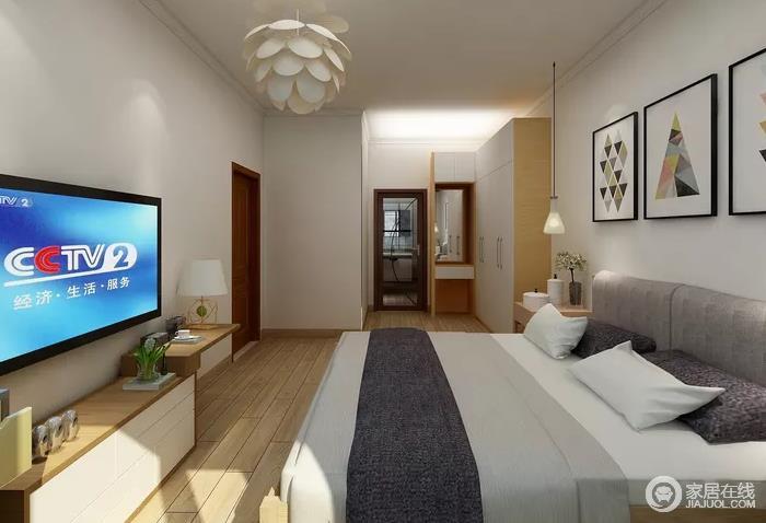 居室在色彩方面秉承了传统古典风格的典雅和华贵,但与之不同的是加入了很多现代元素,呈现着时尚的特征。在配饰的选择方面更为简洁,少了许多奢华的装饰,更加流畅地表达出传统文化中的精髓,灰白色床品颇显质感,让生活格外舒适。