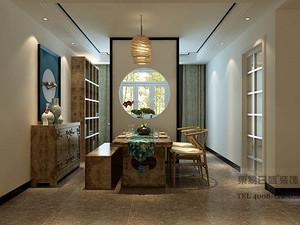 开元花半里-三室两厅装修效果图_新中式装修风格案例赏析