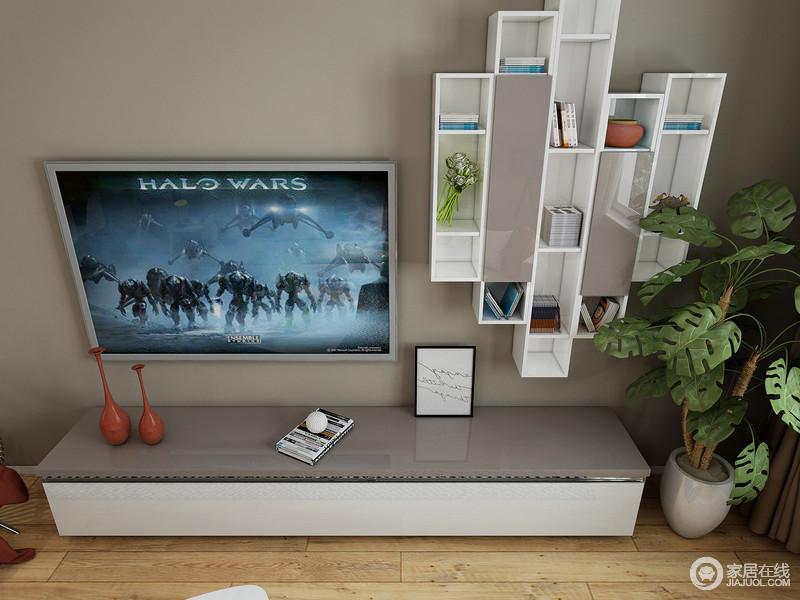 电视拉开的小抽屉满足您在客厅小物品的收纳。