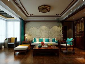 滨河国际-三室两厅装修160平米-中式古典装修风格效果图案例赏析