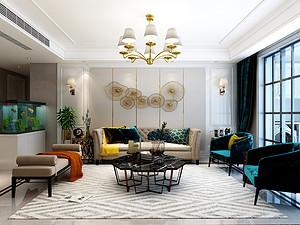 金泰华府-地下300平米四室两厅装修-简约美式风格装修案例赏析