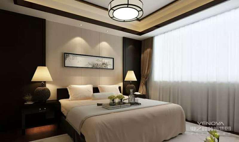 卧室,以暖色为主,看起来简约时尚。