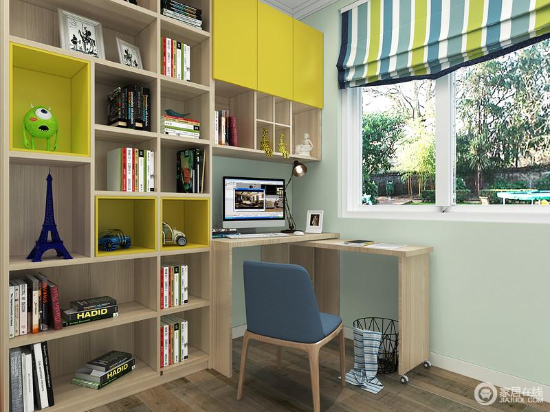 空全分隔的读写区,有利于更好的读书,清新活力的配色更能休更现小主人的孩子活泼的天性。