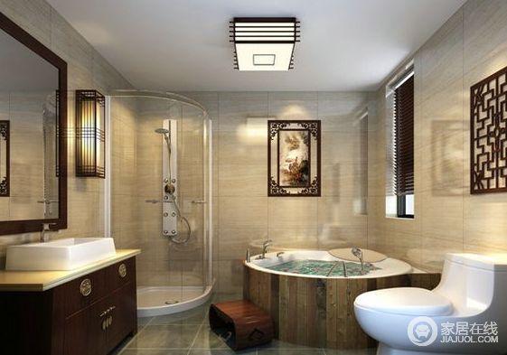 卫生间很大,所以用玻璃门围合出淋浴区,使空间干湿得到分离;为了满足屋主需求,做了浴缸设计,洗去一天的疲惫和烦恼。