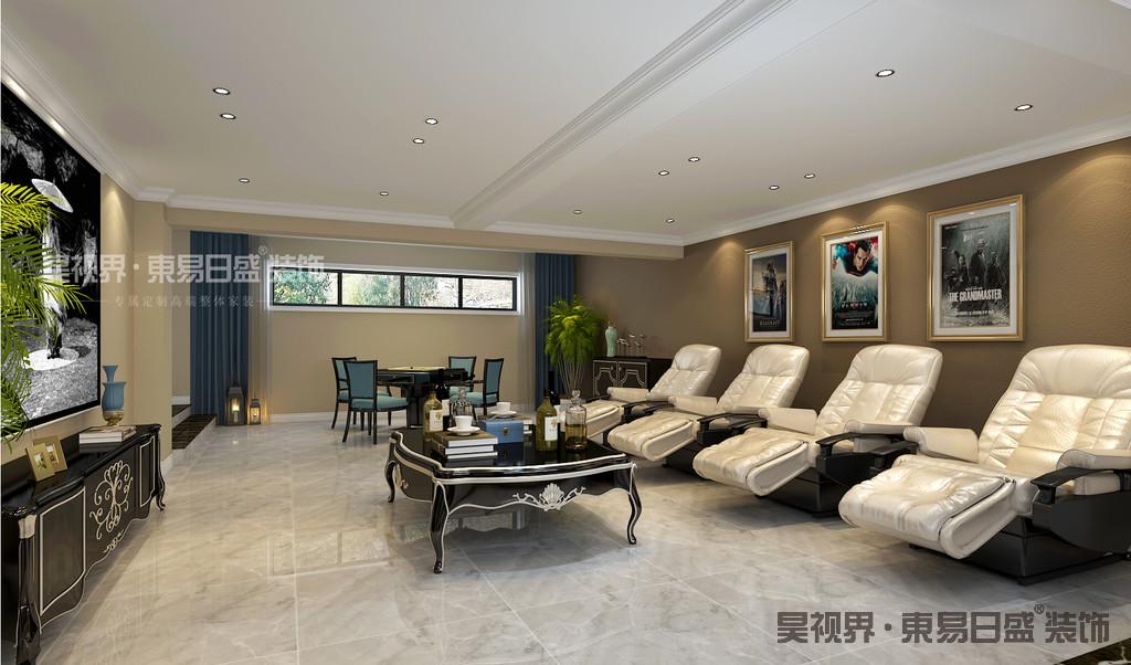 本案地下室通风采光优良,将地下室设计为家庭娱乐室加休息室,充分满足了客户的喜好。