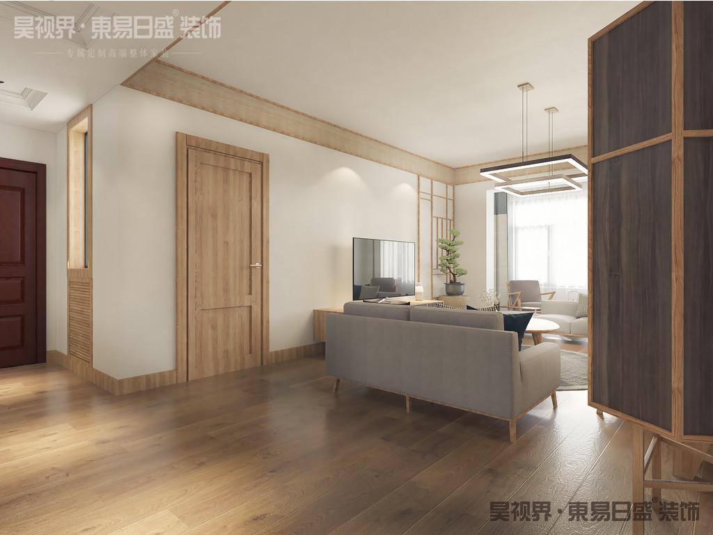 日式风格装修的色彩清新柔和。