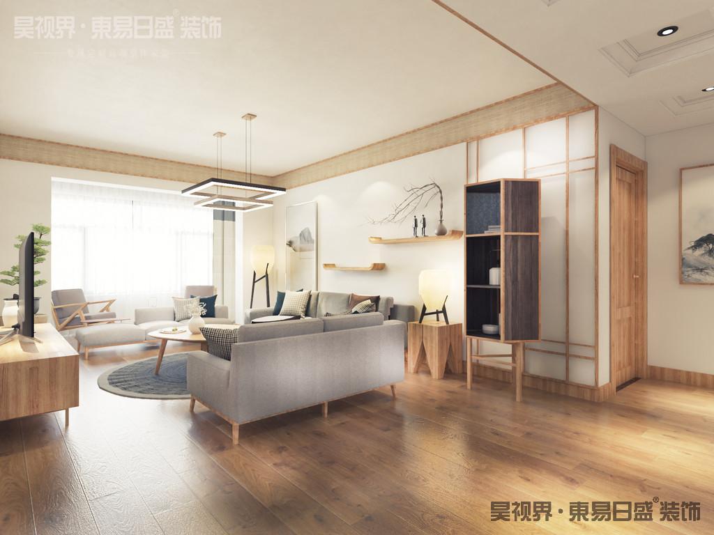 而以原木作为主要装饰手段,在现代日式家居中也相当常见:传统再现于现代。