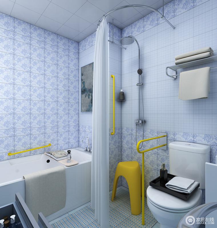 设置浴缸与独立淋浴区,当老人不方便泡浴时可在淋浴区安全便捷的完成清洁工作。