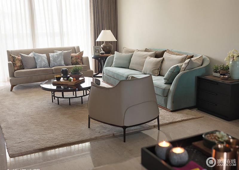 整个空间的色调统一,会使整个空间看起来干净宽阔