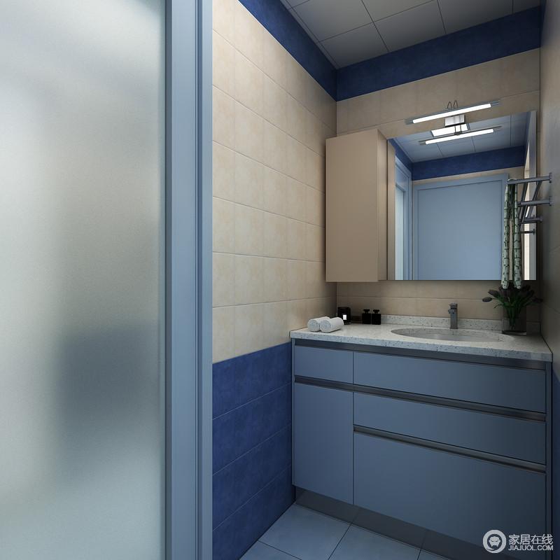 将浴室一分为二,干湿分开,就可保持沐浴之外的场地干燥卫生,维持浴室整体环境的整洁美观。