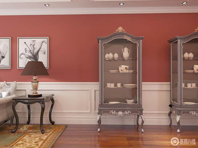 复古的酒柜与灵动的空间更为匹配。
