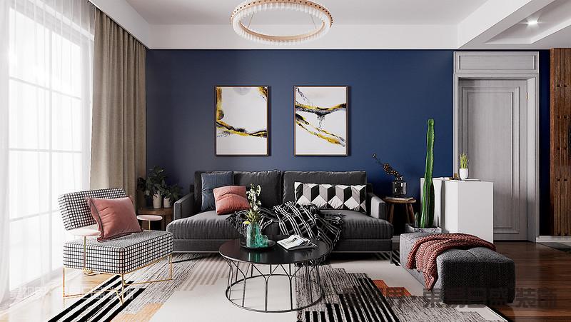 整体采用清新舒适的北欧风格,摒弃大量无用的装饰造型,通过色彩的搭配来营造整个空间的的装饰效果。