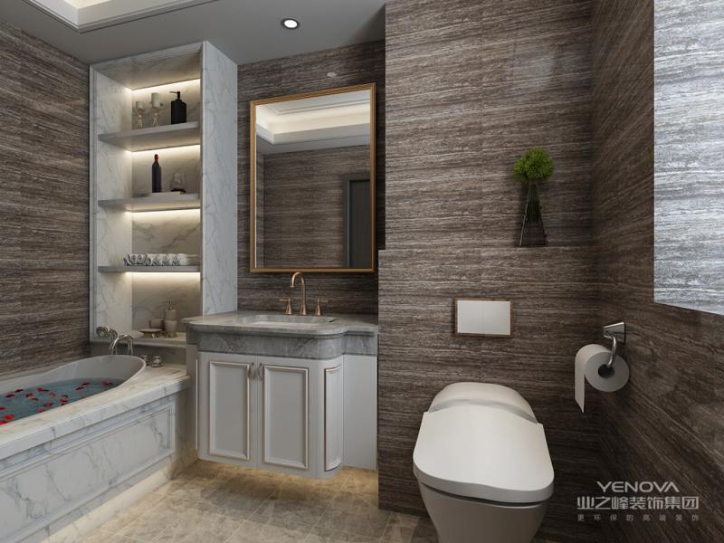 卫生间是每个人最放松的地方,所以颜色的搭配也是非常重要的。