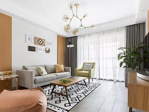 130㎡清新北欧3室2厅,营造舒适美好的生活格调