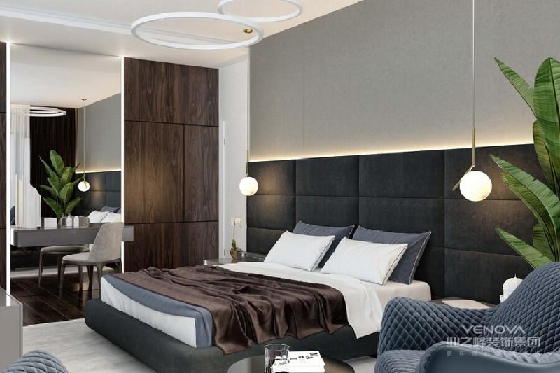 卧室有一块儿属于自己的闲暇空间,看看书,喝杯咖啡,享受惬意的生活。