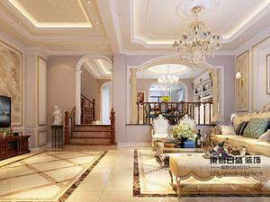 柳溪美庐-别墅装修420平米-欧式古典风格效果图案例赏析