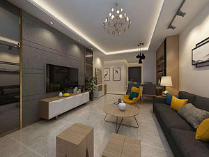海唐广场两居室 88㎡ 现代风格