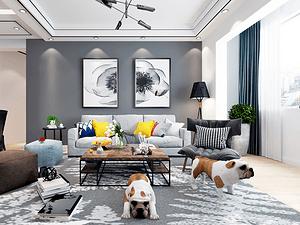 锦绣园三居室 142㎡ 现代风格